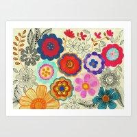Charming Floral Art Print