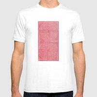 Robotic Boobs Red Mens Fitted Tee White SMALL