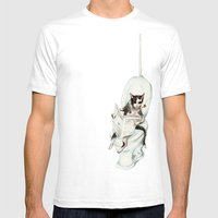 DO NOT DISTURB Mens Fitted Tee White SMALL