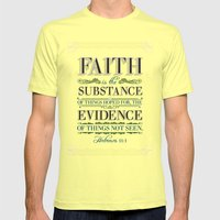 The Substance of Things Hoped for . . . Mens Fitted Tee Lemon SMALL