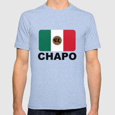 El Chapo Mexican flag Mens Fitted Tee Tri-Blue SMALL