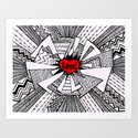 Power of Love... Art Print