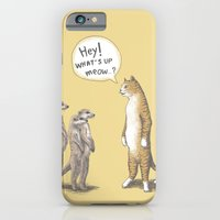 iPhone & iPod Case featuring Cat & Meerkats by Tummeow
