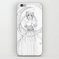 Sailor Moon-B&W iPhone & iPod Skin