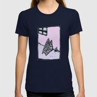Pastel Memory Womens Fitted Tee Navy SMALL