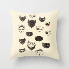 My local cattery Throw Pillow