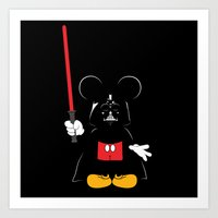 Darth Mickey Art Print