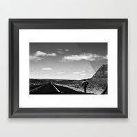 The Lone Wolf in BNW Framed Art Print