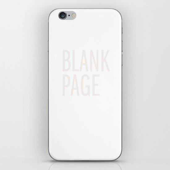 Blank Page iPhone & iPod Skin
