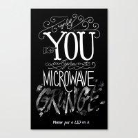 Microwave Grunge V 2.0 Canvas Print