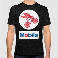 Mobile Mens Fitted Tee Tri-Black SMALL