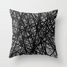 Kerplunk Extended Black and White Throw Pillow