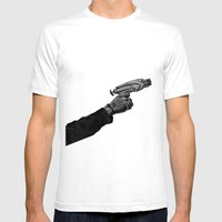 Nerf War Mens Fitted Tee White SMALL