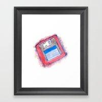 Disk Framed Art Print