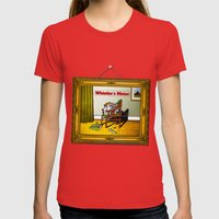 Whistler's Motor Womens Fitted Tee Red SMALL