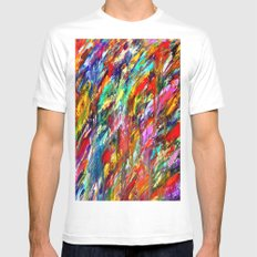 Colorful Waters SMALL White Mens Fitted Tee