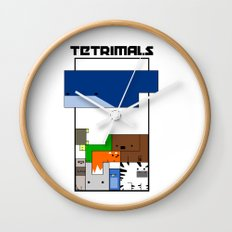 Tetrimals Wall Clock