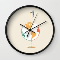 Fill your world with colors Wall Clock