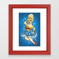 Honder Woman Commission Framed Art Print
