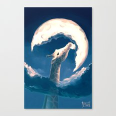La fable de la girafe Canvas Print
