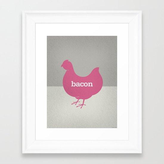 Bacon/Eggs Framed Art Print