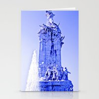 Divine between intense blues. Stationery Cards