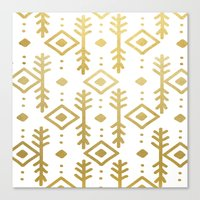 GOLD NORDIC Canvas Print