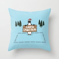 Christmas Penguin Throw Pillow