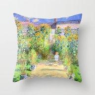 Monets Garden At Vetheui… Throw Pillow