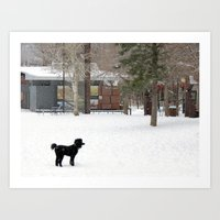Snow Dogs III Art Print