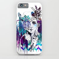 iPhone & iPod Case featuring Tribal Girl - Colourway - by Holly Sharpe