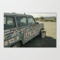 Salvation Mountain Truck  Canvas Print
