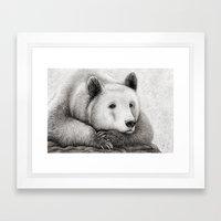 Brooding Bear Framed Art Print