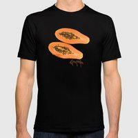 Papaya Fruit Mens Fitted Tee Black SMALL