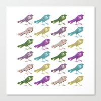 Stereo Birds Canvas Print