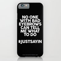 Bad Eyebrows /// www.pencilmeinstationery.com iPhone 6 Slim Case