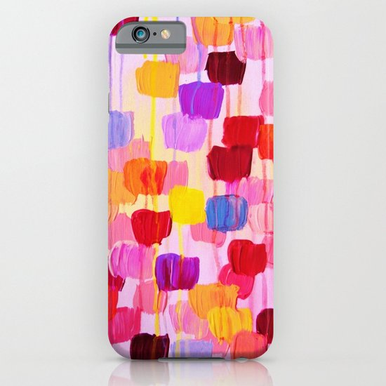 DOTTY in Pink - October Special Revisited Bold Colorful Square Polka Dots Original Abstract Painting iPhone & iPod Case