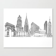 New York City by the Downtown Doodler Canvas Print