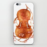 Sakura Violin iPhone & iPod Skin
