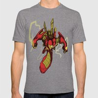 iRon Mens Fitted Tee Tri-Grey SMALL