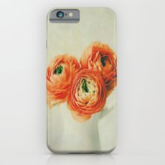Orange Ranunculus Textured  iPhone 6 Slim Case