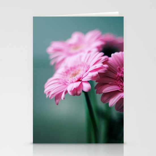 Pink Gerbera Dream°2 Stationery Card