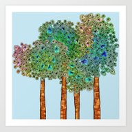 Tree Grove Art Print