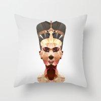 Polygon Heroes - Neferti… Throw Pillow