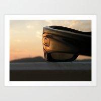 Oakley Sunset Art Print