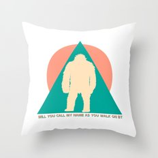 Samsquanch. Throw Pillow