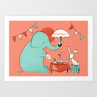 Tea Party Art Print