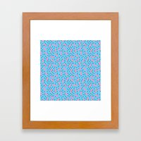 Pink Banana Peel on Baby Blue /// www.pencilmeinstationery.com Framed Art Print
