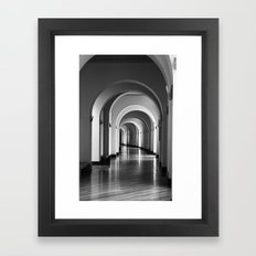 According to the light Framed Art Print