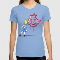 Alice  Womens Fitted Tee Tri-Blue SMALL